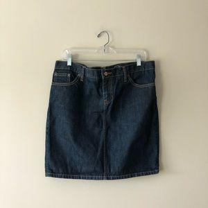 GAP dark wash denim skirt